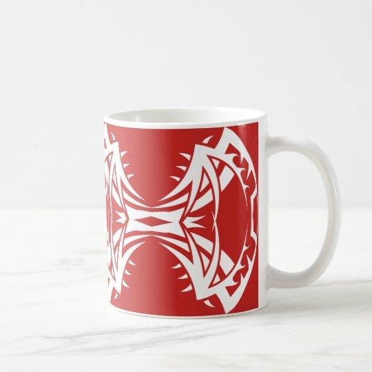Tribal mug 14 white to over network