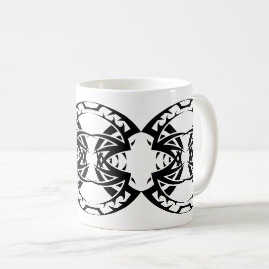 Tribal mug 15 black and white