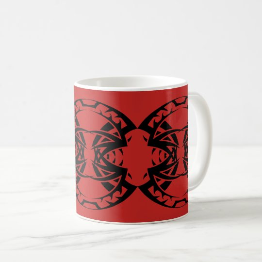 Tribal mug 15 black to over network