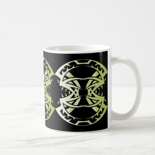 Tribal mug 15 green to over black