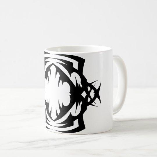 Tribal mug 16 black and white