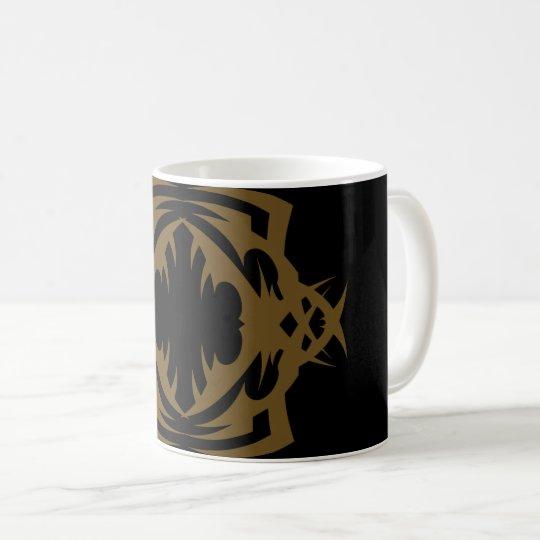Tribal mug 16 gold to over black