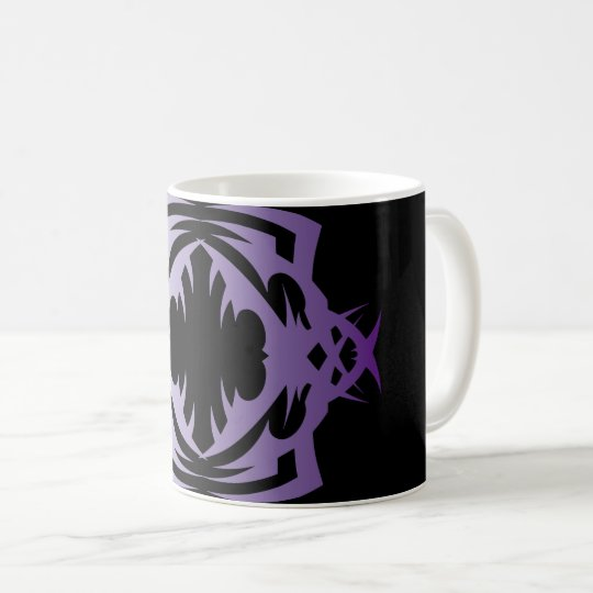 Tribal mug 16 purple to over black