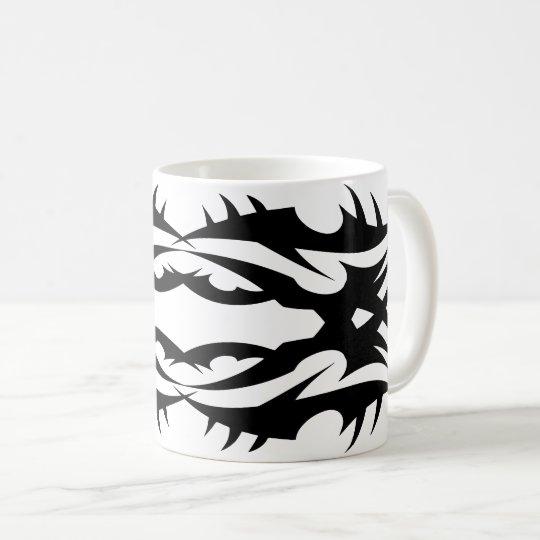 Tribal mug 17 black and white