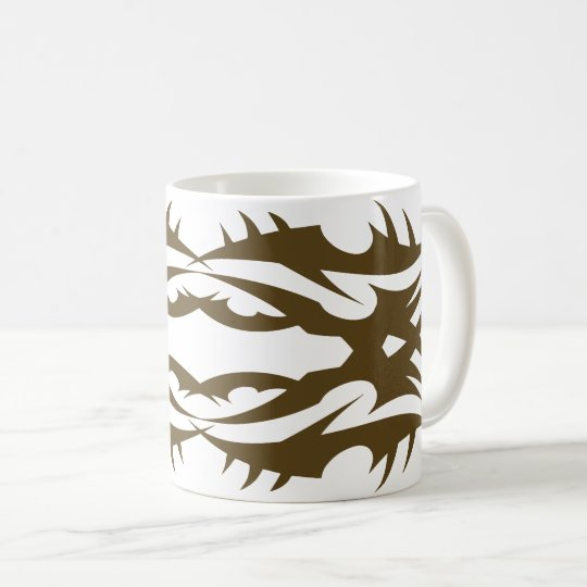 Tribal mug 17 gold to over white