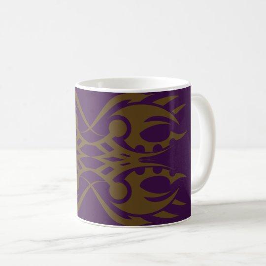 Tribal mug 18 gold to over purple