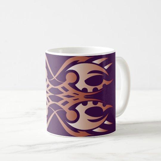 Tribal mug 18 network to over purple