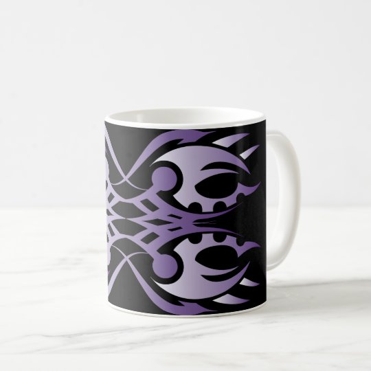 Tribal mug 18 purple to over black
