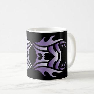 Tribal mug 3 purple and white