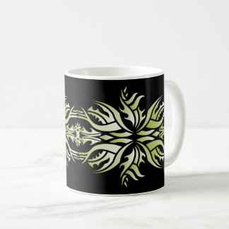 Tribal mug 5 green and white