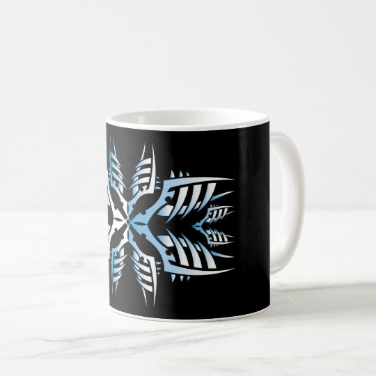 Tribal mug 7 blue over black