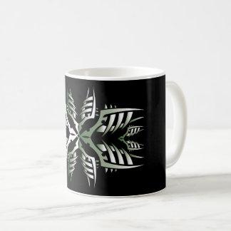 Tribal mug 7 green to over black