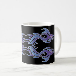 Tribal mug 8 colors to over black