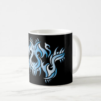 Tribal mug 9 blue over black