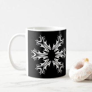 Tribal mug black and white