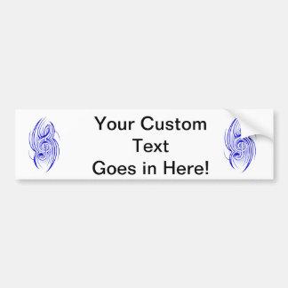 tribal music clef blue.png bumper sticker