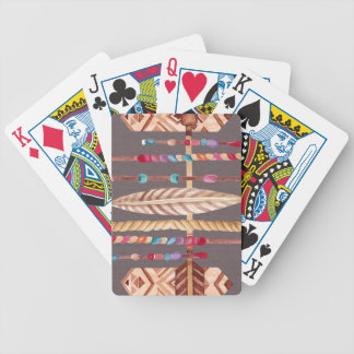 Tribal Native Beads Arrows Rope Pattern Collage Bicycle Playing Cards