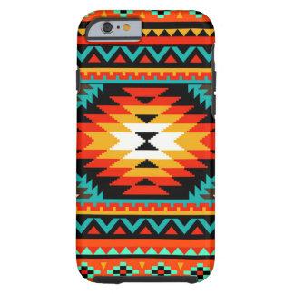 Tribal Neon Orange German Bird's Eye Pattern Tough iPhone 6 Case