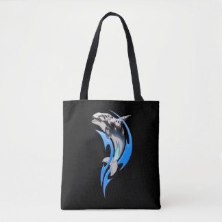 Tribal Orca All-Over-Print Tote Bag