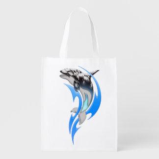 Tribal Orca Reusable Grocery Bag