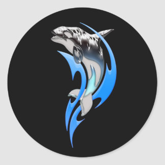 Tribal Orca Round Stickers