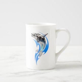 Tribal Orca Tea Cup