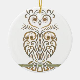 Tribal Owl Christmas Ornament