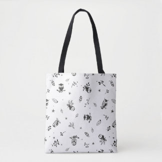 Tribal Owls Tote Bag