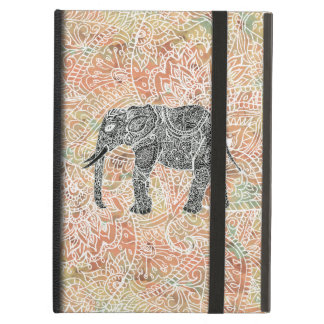 Tribal Paisley Elephant Colorful Henna Pattern iPad Air Cover