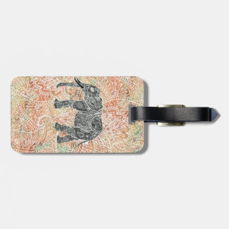 Tribal Paisley Elephant Colorful Henna Pattern Luggage Tag