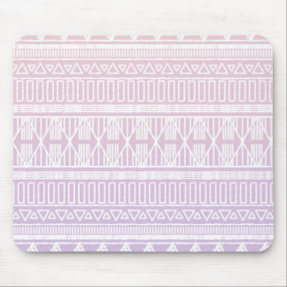 Tribal Pastel Pink Purple Mouse Mat