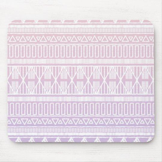 Tribal Pastel Pink Purple Mouse Mat