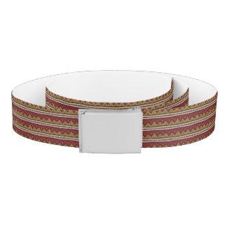 Tribal pattern belt