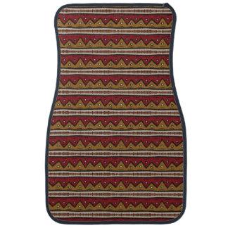 Tribal pattern car mat