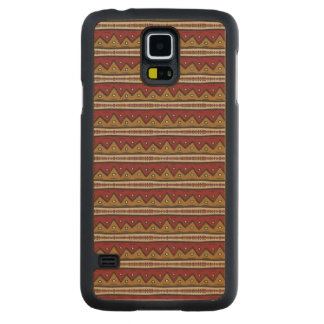 Tribal pattern carved maple galaxy s5 case