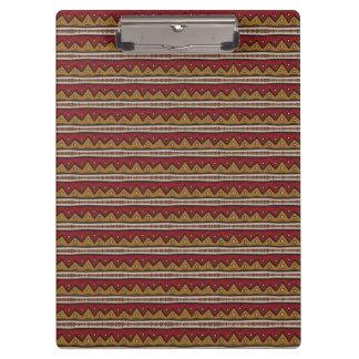 Tribal pattern clipboard