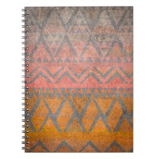 Tribal Pattern Desert Sandstone Texture Ethnic Notebooks