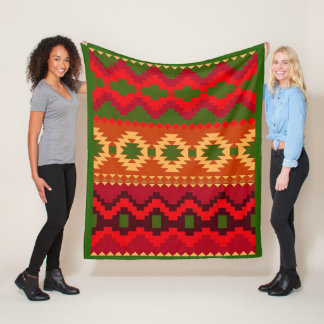 Tribal Pattern Fleece Blanket