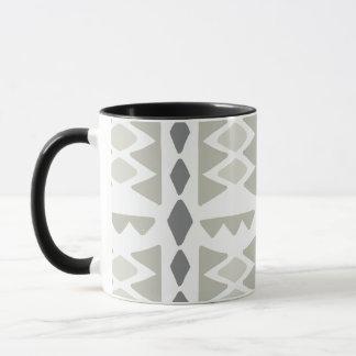 Tribal Pattern In Gray Tones | Mug