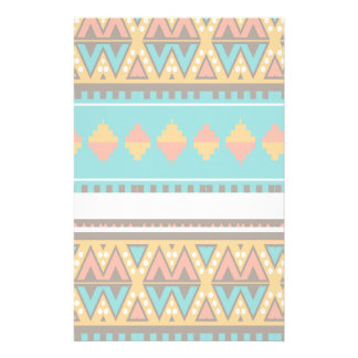 Tribal pattern in retro colors custom stationery