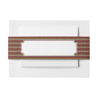 Tribal pattern invitation belly band