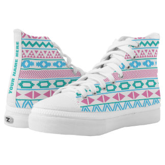 Tribal Pattern Personalized High Tops