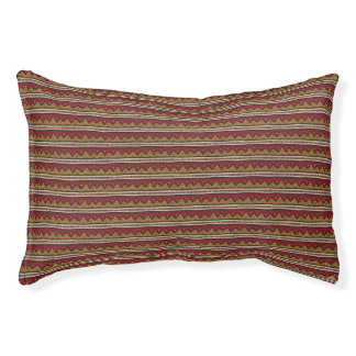 Tribal pattern pet bed