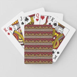 Tribal pattern poker deck
