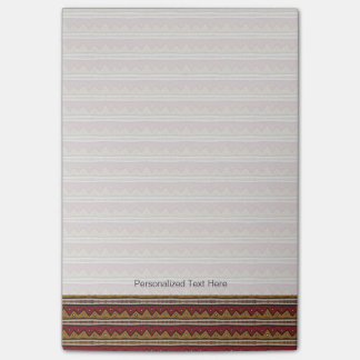 Tribal pattern post-it notes