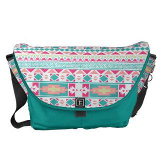 Tribal Pattern Print Messenger Bag