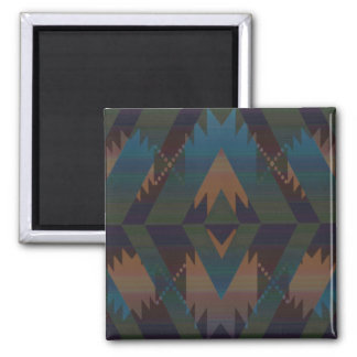Tribal Pattern Square Magnet