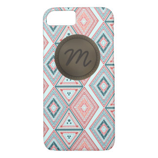 Tribal pattern with  monogram and badge iPhone 7 case