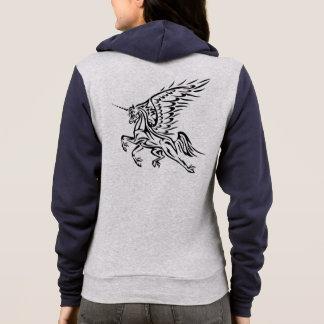 Tribal Pegasus-Unicorn Zip Hoodie