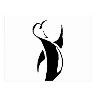 Tribal Penguin Postcard
